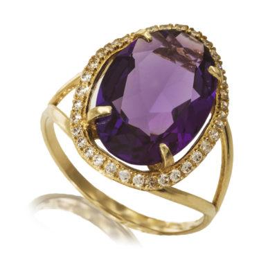 צילום טבעת משובצת